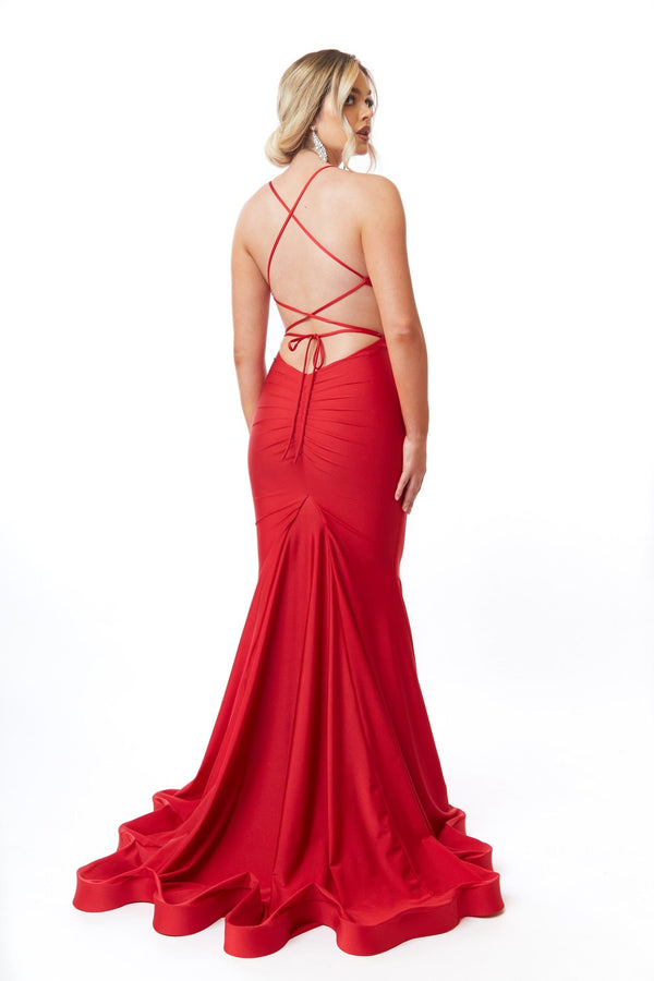 Atria Criss Cross Front Strappy Back Gown