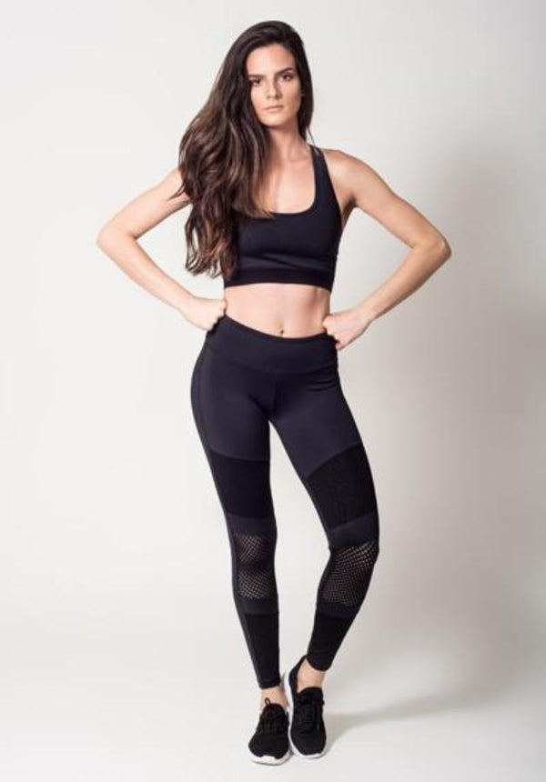 Leggings - Active Fit  Duo Mesh Legging