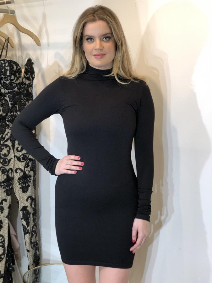 Leiluna Stretch Turtleneck Dress
