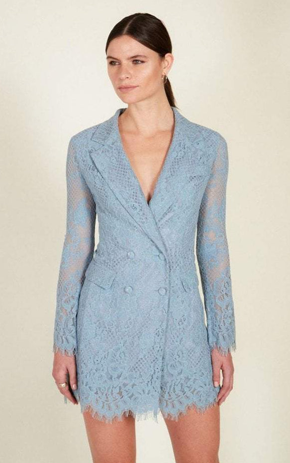 Donna Mizani Nixon Blazer Lace Dress