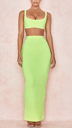 Jessica Bara Marsha Two Piece Ribbed Set