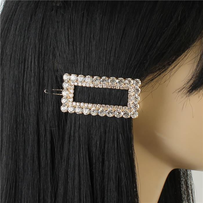 Debbie Rhinestone Rectangular Hair Pin
