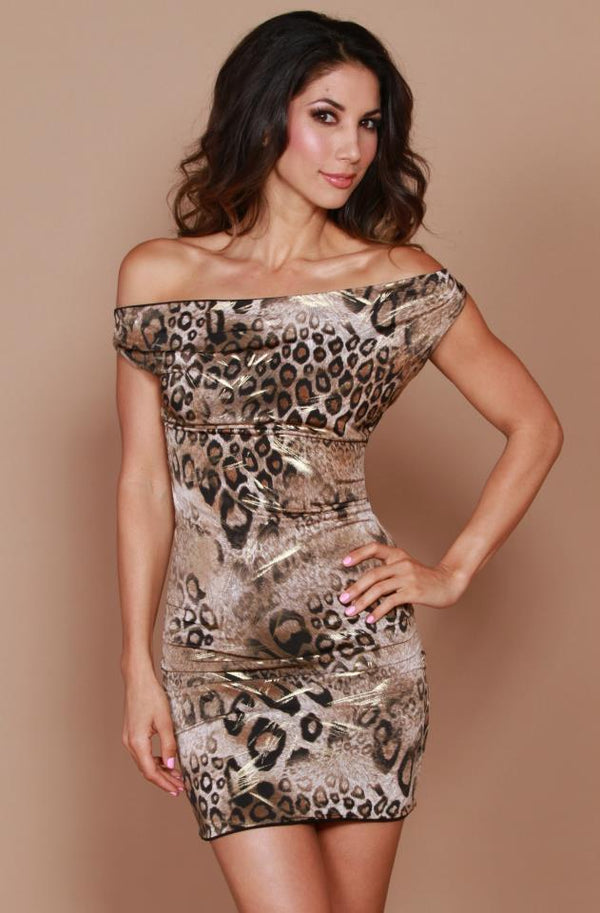 Root Catalog - Leiluna Black And Leopard Six Way Dress