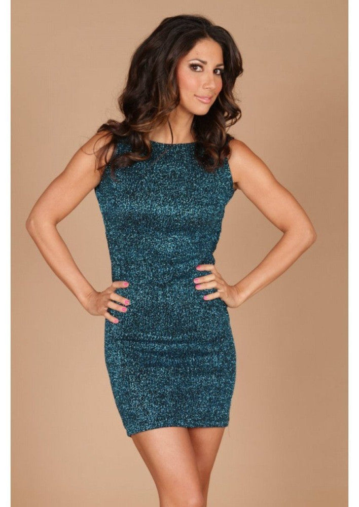 Root Catalog - Leiluna Sparkle Sleeveless Classic Backless Dress