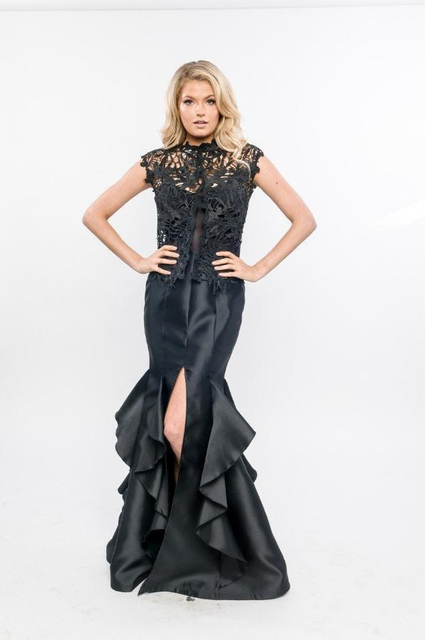 Root Catalog - Nicole Bakti Lace Top With High Front Slit