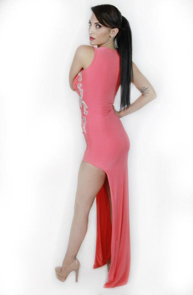 Root Catalog - Vie Sauvage Coral Michelle Gown