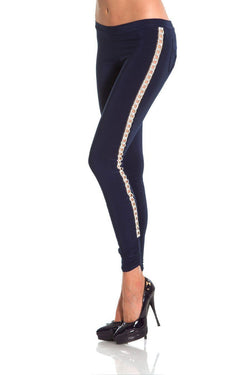 Root Catalog - Vie Sauvage Crystal Embellished Side Leggings