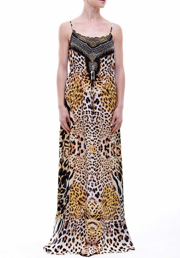Shahida Parides Leopard Cami Long Dress