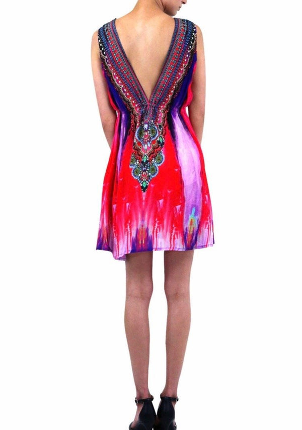 Shahida Parides Printed Short Marfa Dress