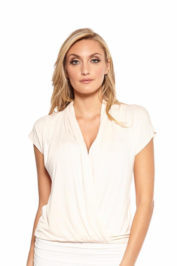 Tops - 724 Cap Sleeve Cross Over Top