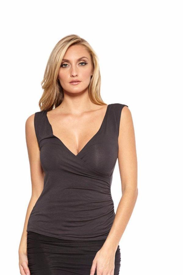 Tops - 724 Deep V Front And Back Top