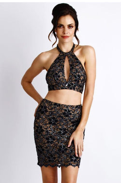 Two-piece - Baccio Couture Laura Set Paint Black