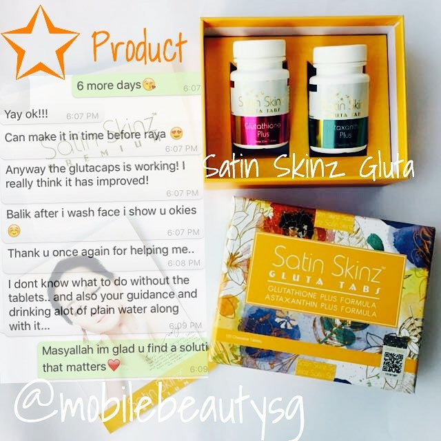One more satisfied customer on Satin Skinz Gluta