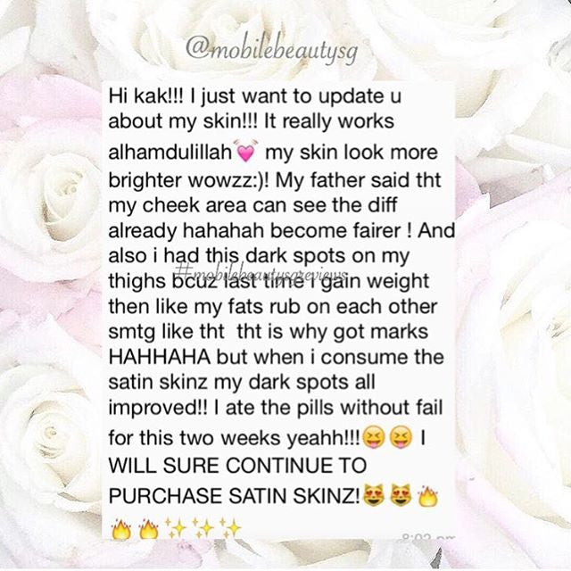 fast and efficient results...Satin Skinz Gluta your solution!