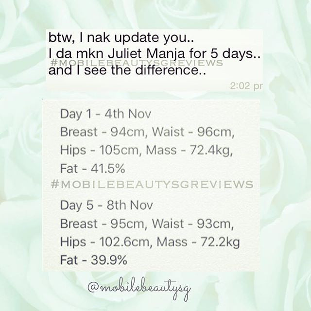 Juliet Manja Pearl she see the difference in 5 days only!