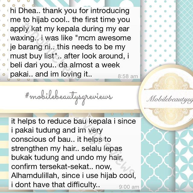 Keep your hair cool & fresh with cool hijab!