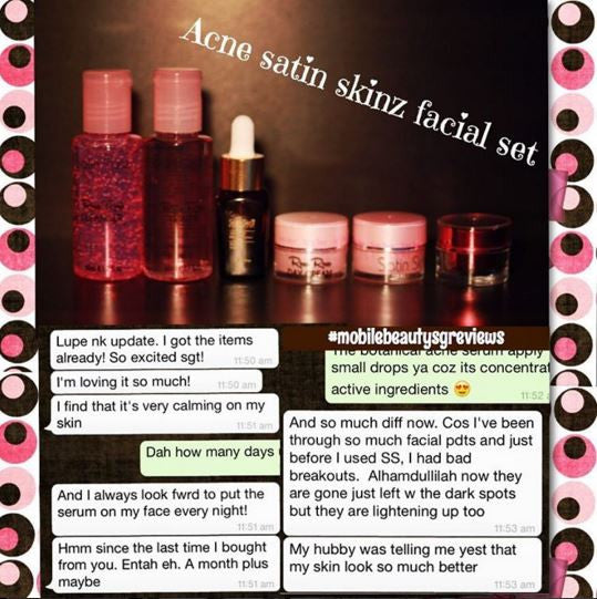 Acne satin skinz facial set