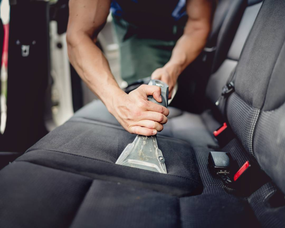 Cleaning fabric car seats