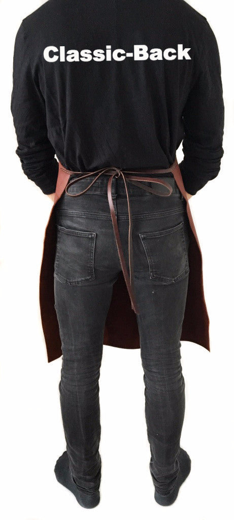 Classic Leather Apron back