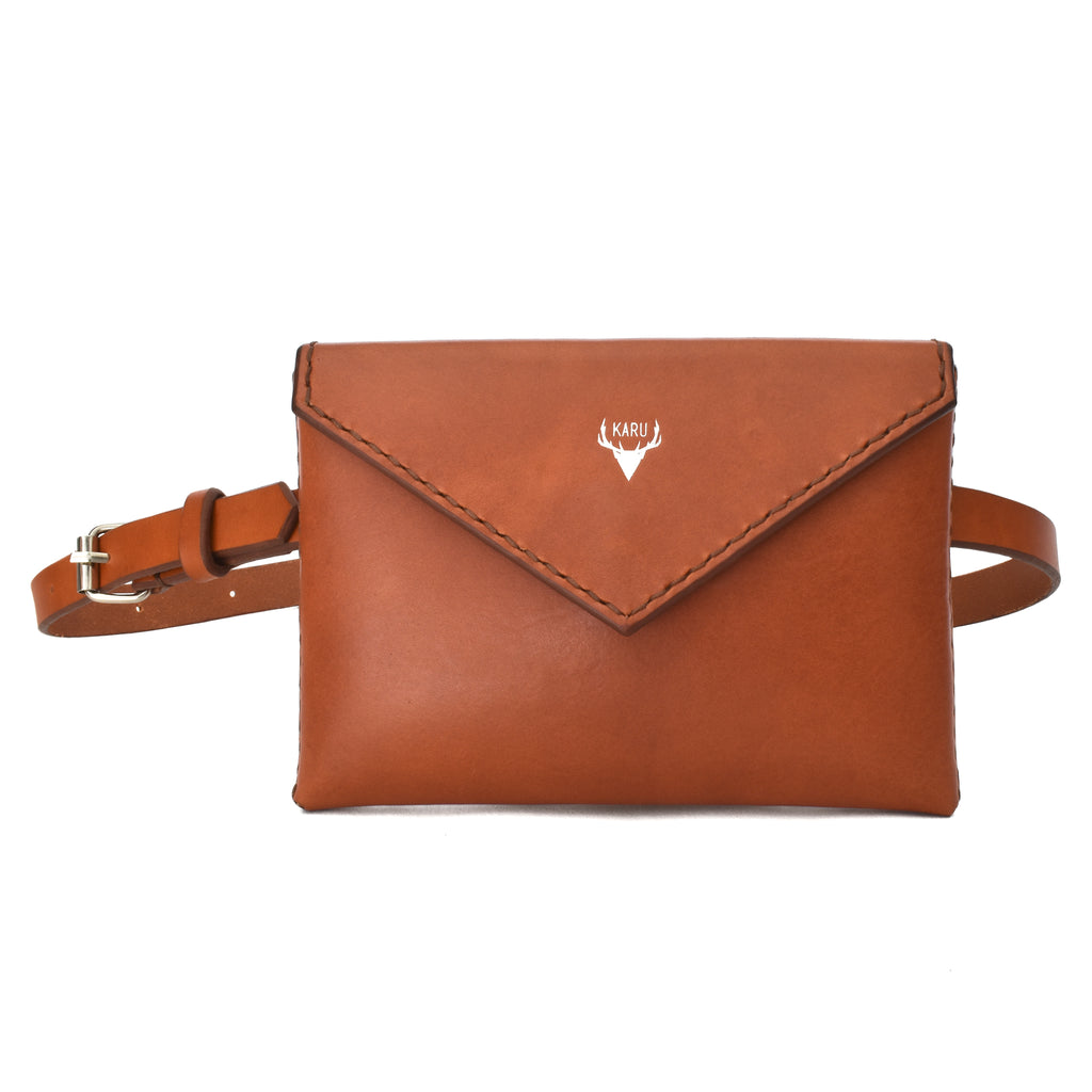 Envelope Belt Bag | Cognac