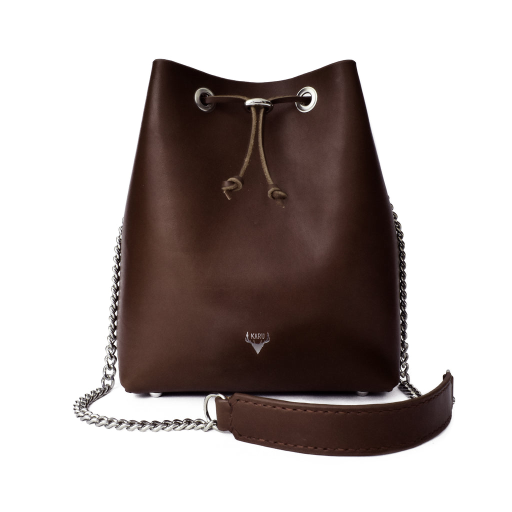 Classic Bucket Bag | Dark Brown
