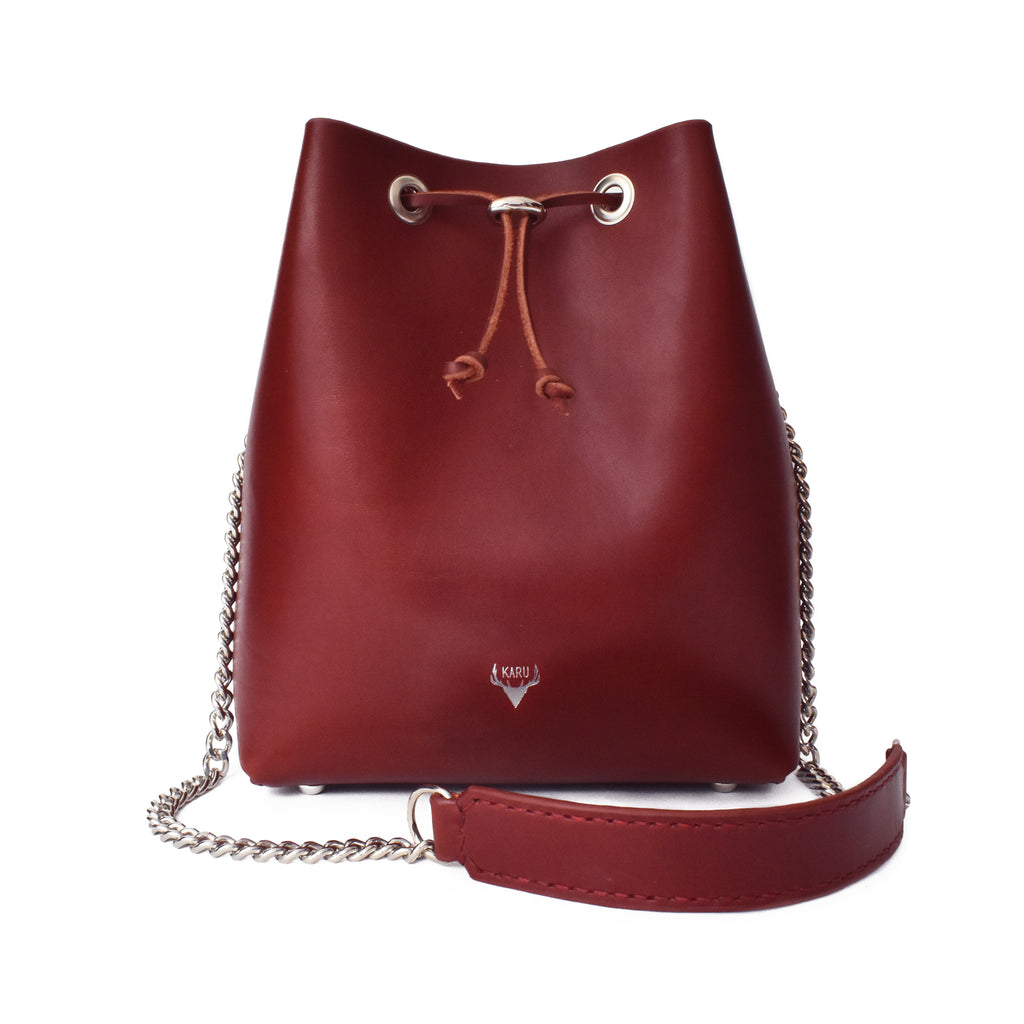 Classic Bucket Bag | Burgundy