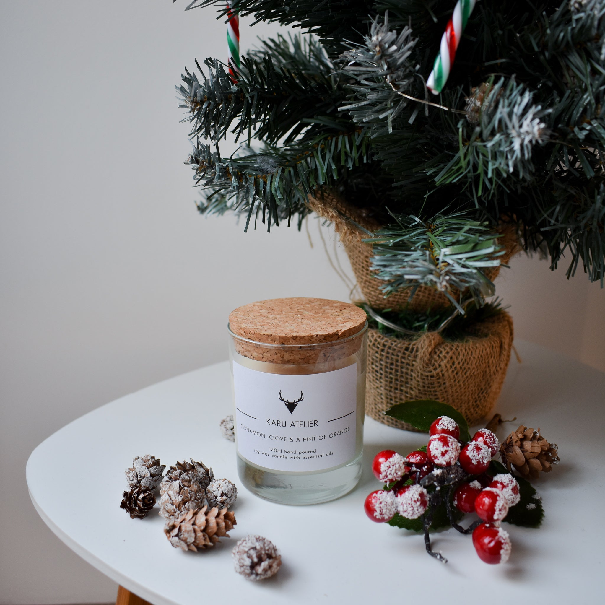 Soy Wax Candle | Cinnamon, Clove & Orange