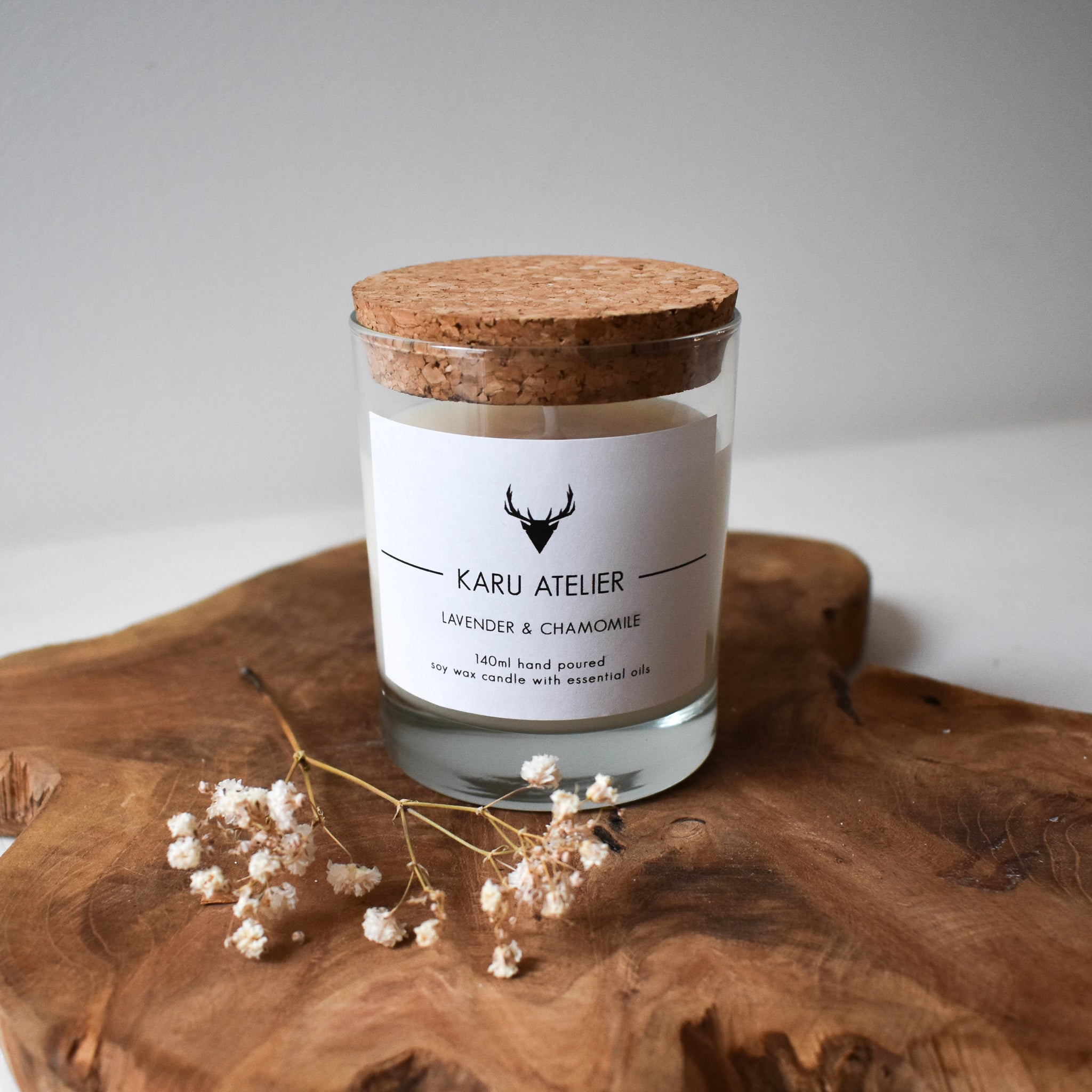 Soy Wax Candle | Lavender & Chamomile
