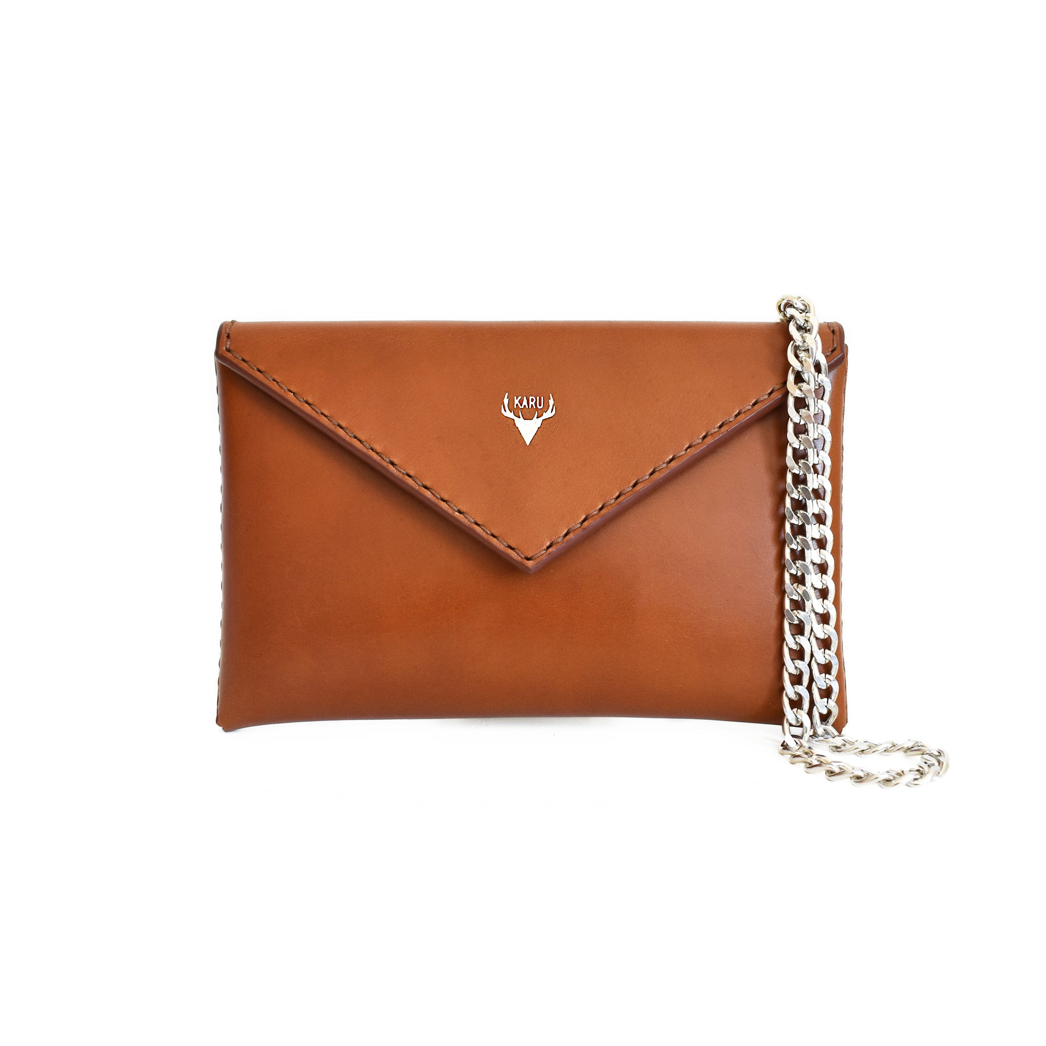 Envelope Clutch | Cognac