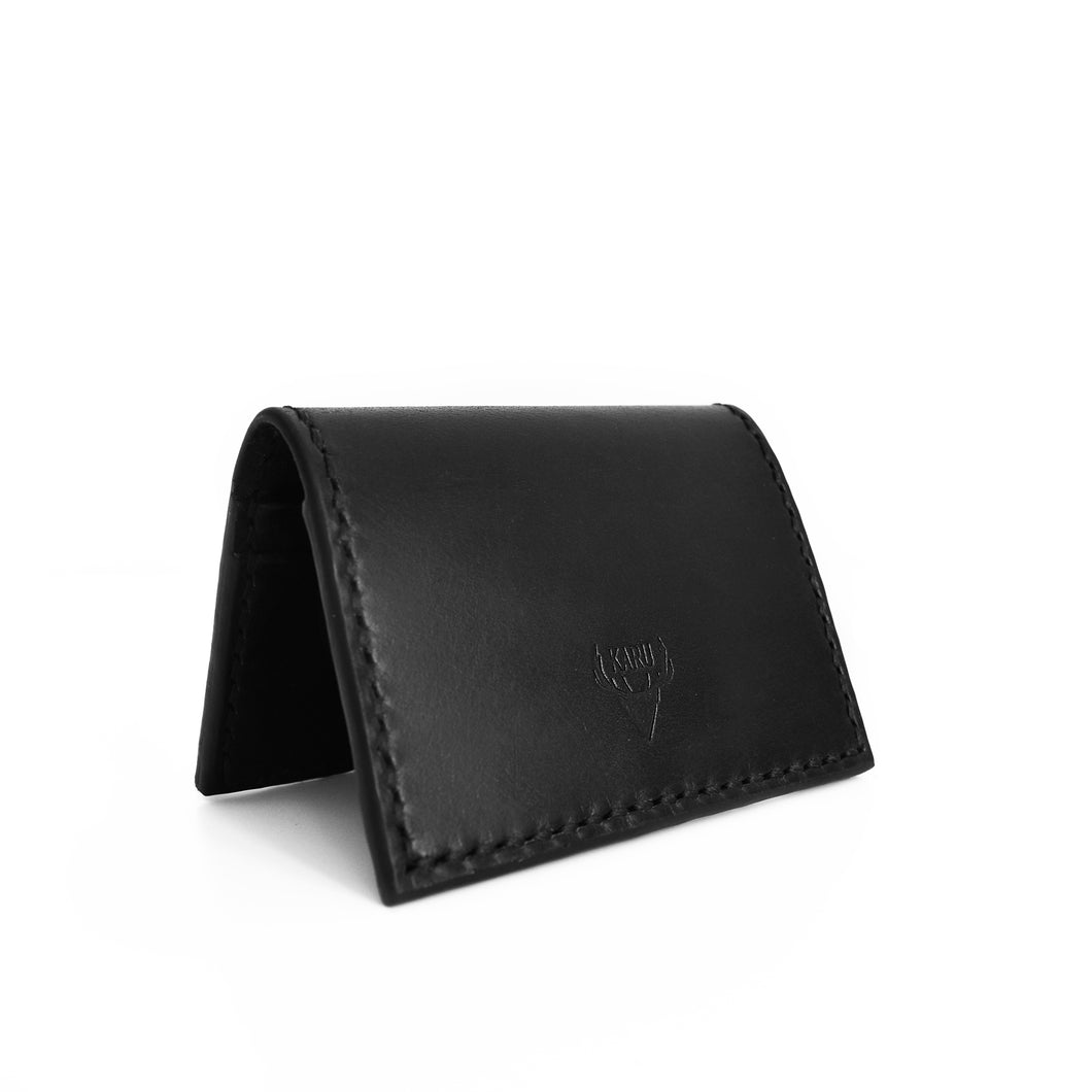 Sample Sale | Black Fold-over Card Wallet