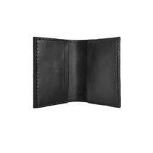 Load image into Gallery viewer, Sample Sale | Black Fold-over Card Wallet