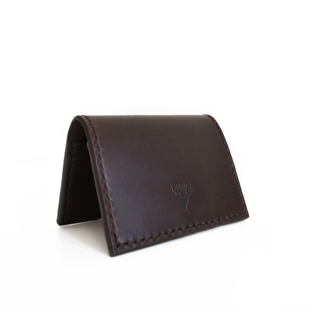 Fold-over Card Wallet | Dark Brown