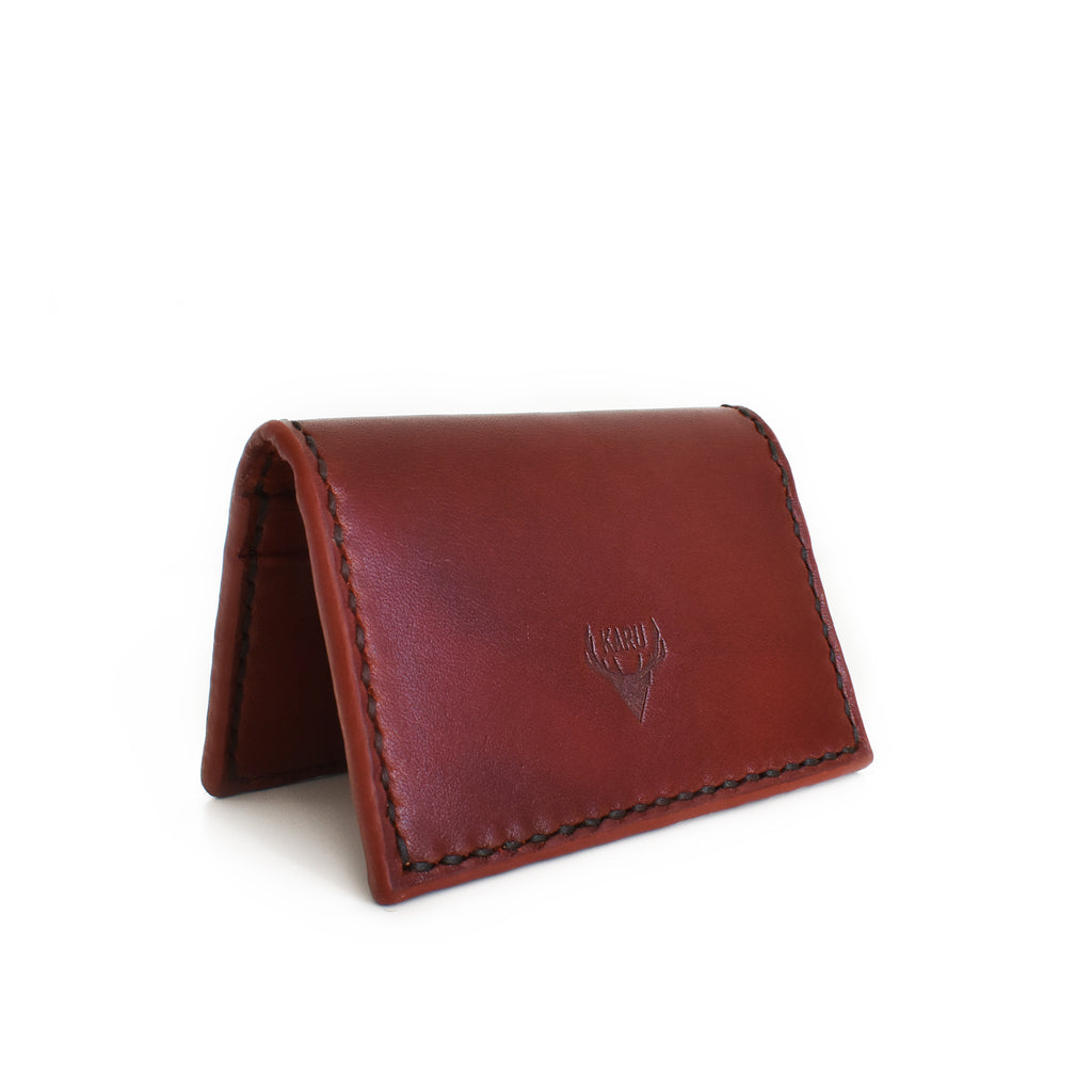 Fold-over Card Wallet | Burgundy