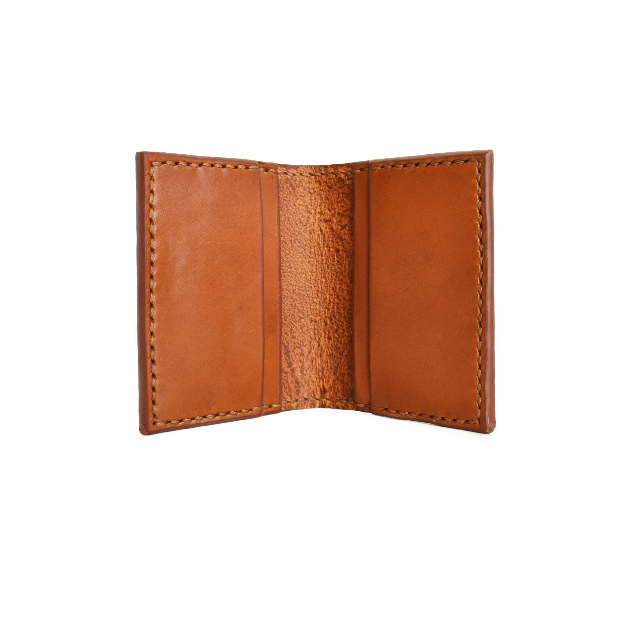 Fold-over Card Wallet | Cognac