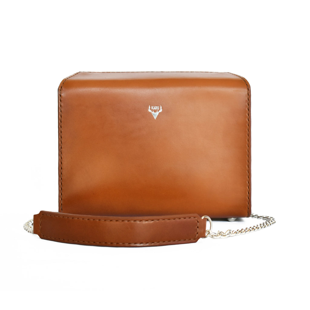 Fold-Over Satchel | Cognac