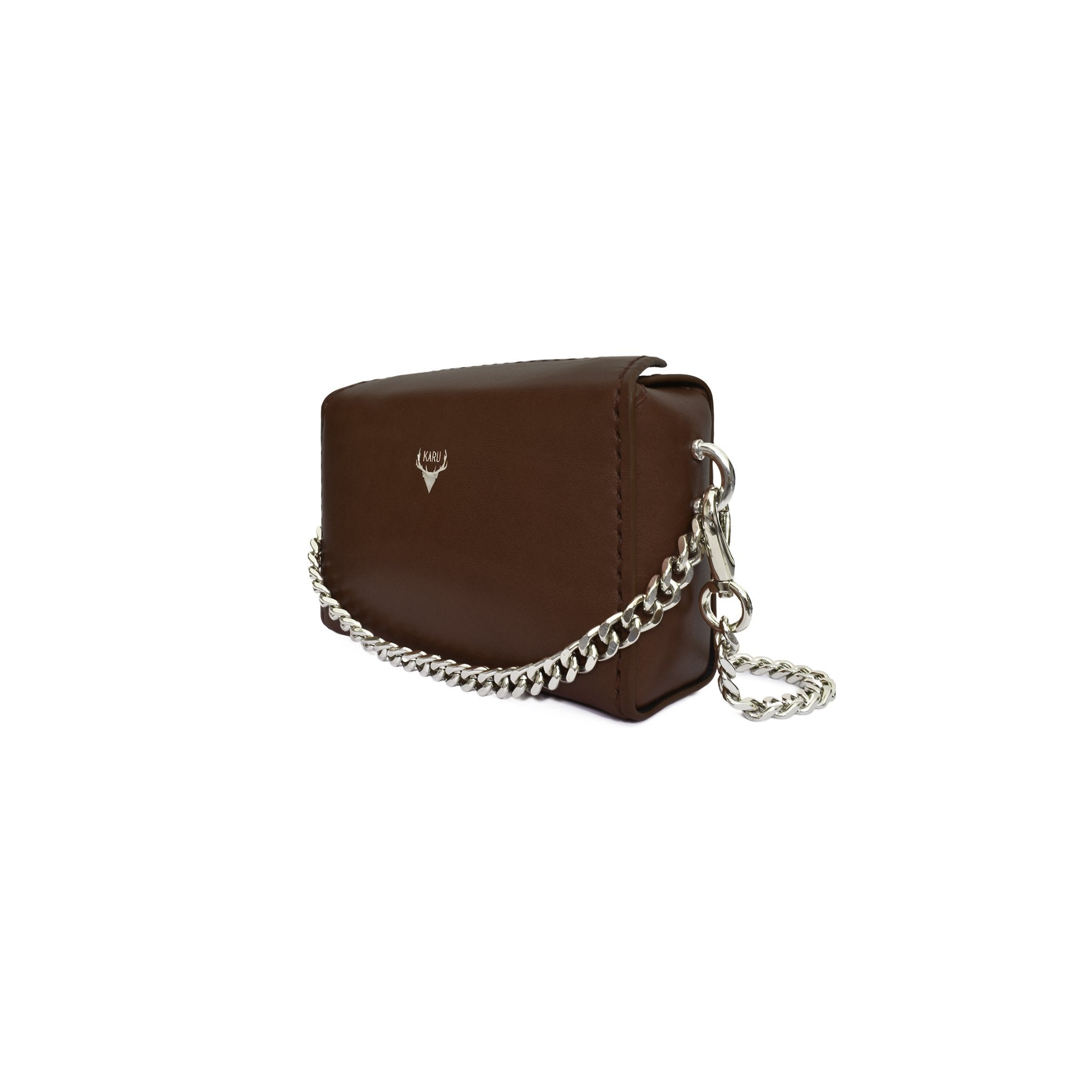 Karu Atelier | Micro Chain Fold-over in Dark Brown | Side
