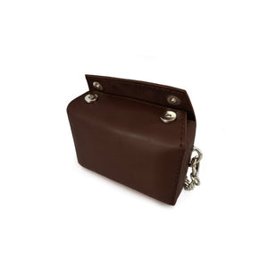 Micro Chain Fold-Over Bag | Dark Brown