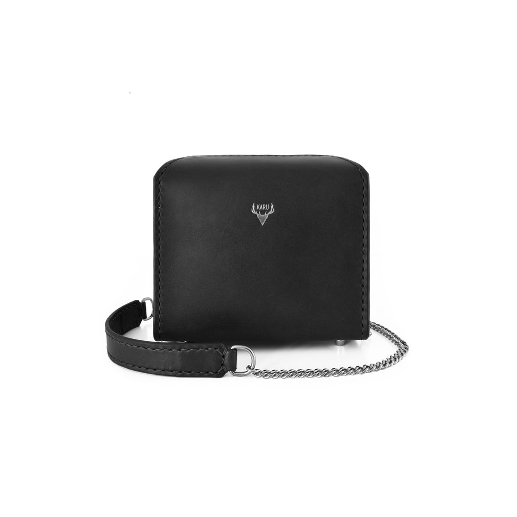 Mini Fold-Over Satchel | Black