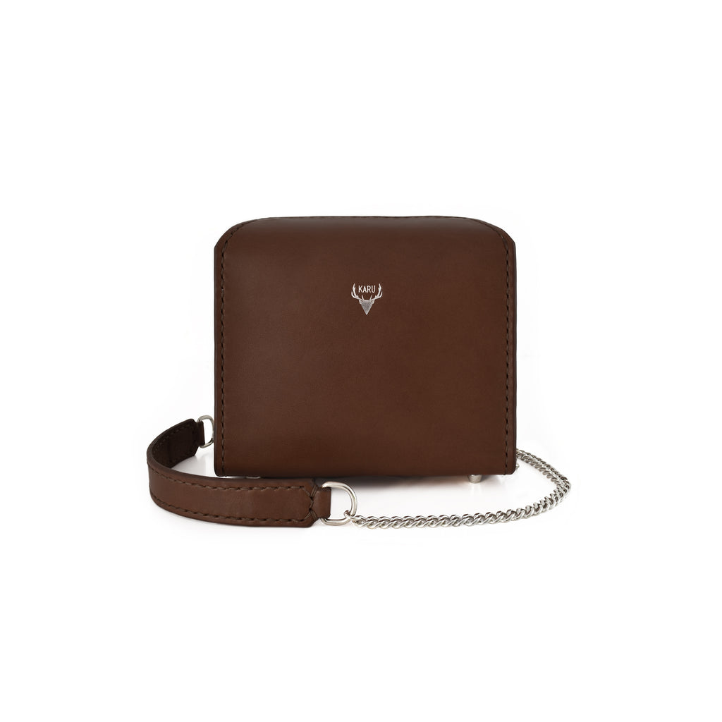 Mini Fold-Over Satchel | Dark Brown