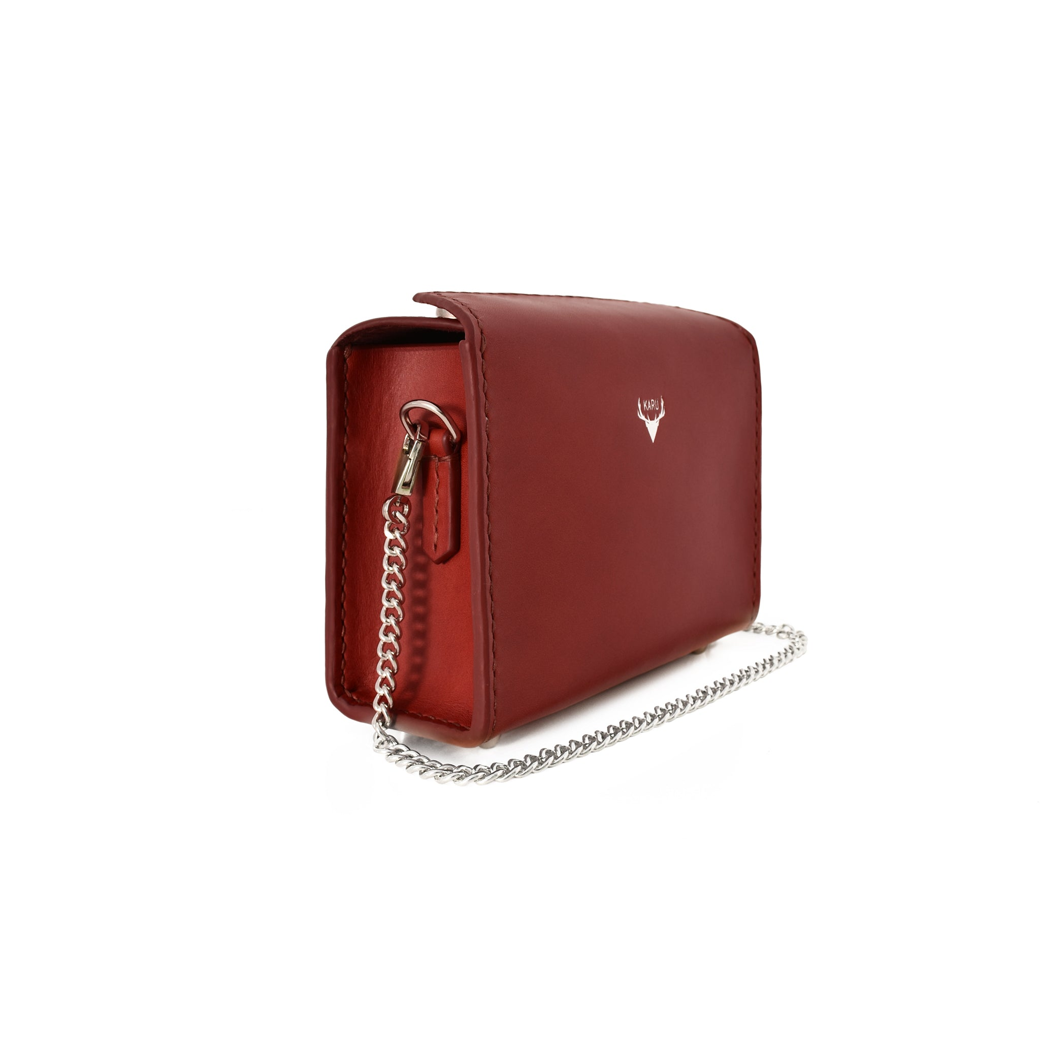 Mini Fold-Over Satchel | Burgundy