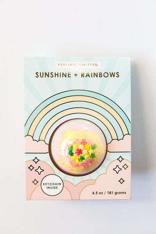 Feeling Smitten Sunshine + Rainbows Bath Bomb