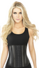 ANN CHERY 2045 BLACK 3 ROW METALLIC WAIST TRAINER - LONG TORSO