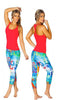 U.S.A. SPORTS YOGA CAPRI PANTS