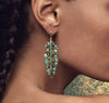 Bahia Banana Leaf Earrings - Emerald