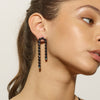 Arc Earrings - Black Spinel
