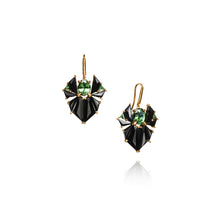 Crest Earrings - Green Tourmaline
