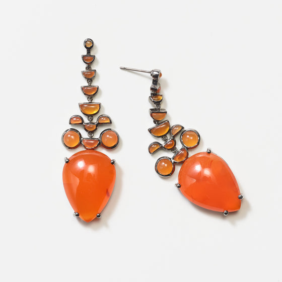 Headdress Earrings - Carnelian