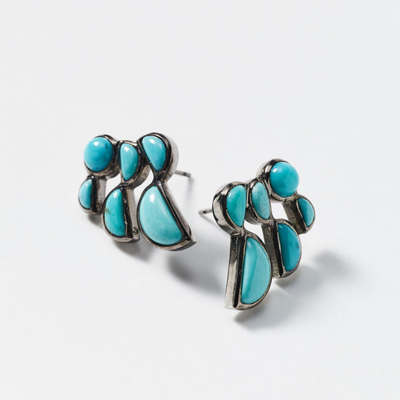 Prawn Earrings - Turquoise