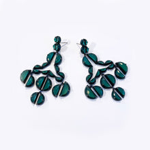 Murano Emerald Enameled Girandole Earrings - Green Onyx