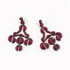 Murano Red Enameled Girandole Earrings - Ruby